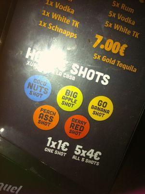Irish pub shots